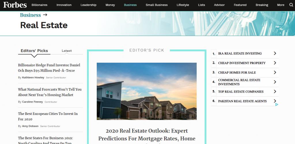 forbes real estate blog