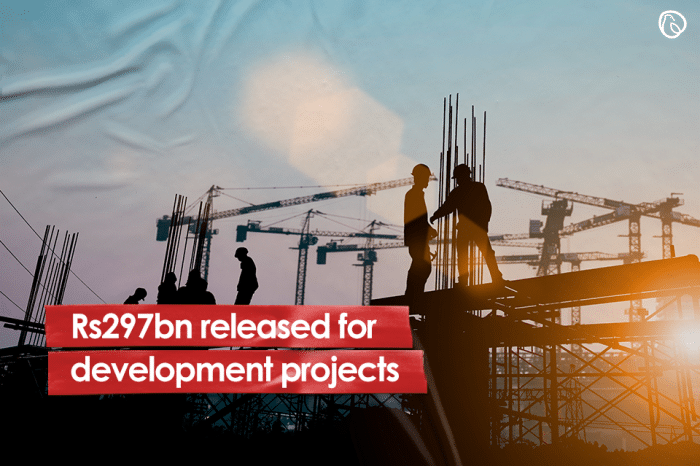 Rs297bn released for development projects