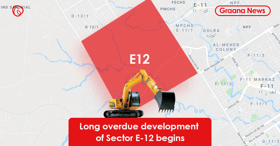 Long overdue development of Sector E-12 begins