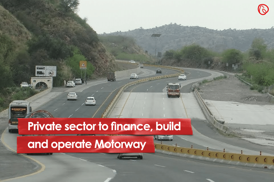 Private sector to finance, build and operate Motorway