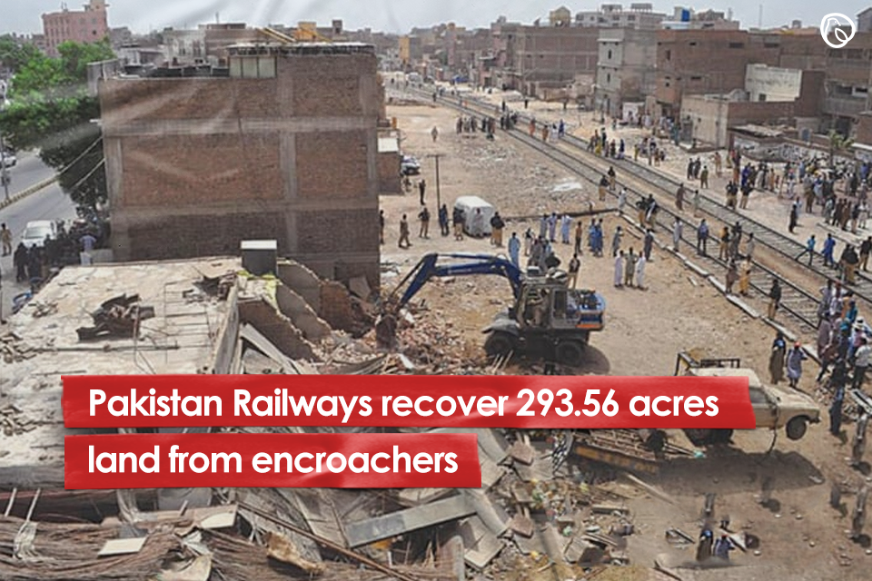 Pakistan Railways recover 293.56 acres land from encroachers