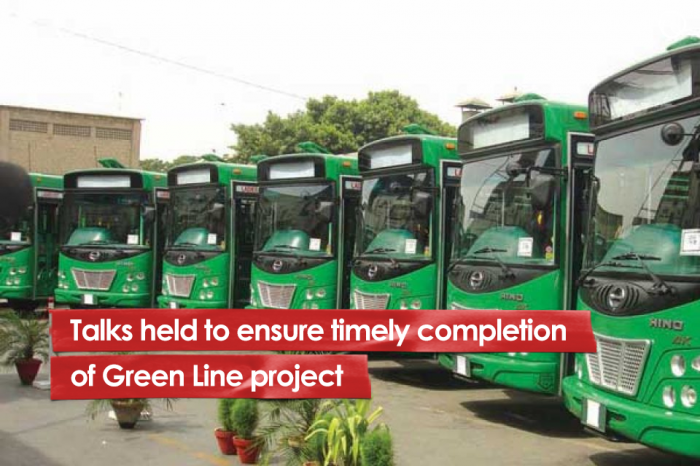 Talks held to ensure timely completion of Green Line project