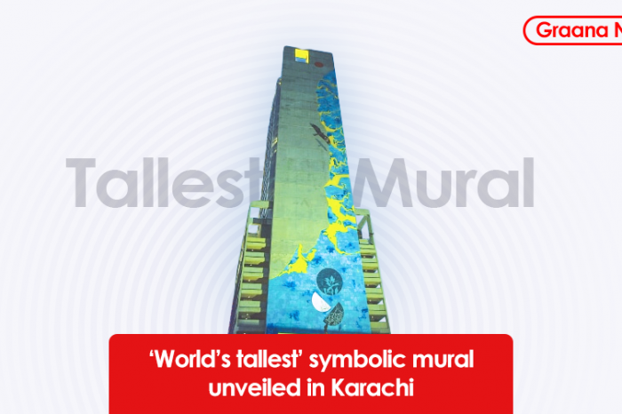 'World's tallest' symbolic mural unveiled in Karachi