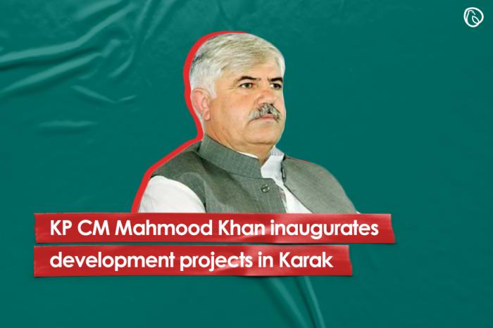 CM Mahmood Khan inaugurates development projects in Karak