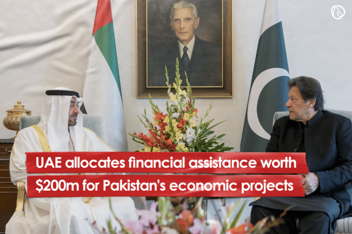 UAE allocates financial assistance worth $200m for Pakistan's economic projects