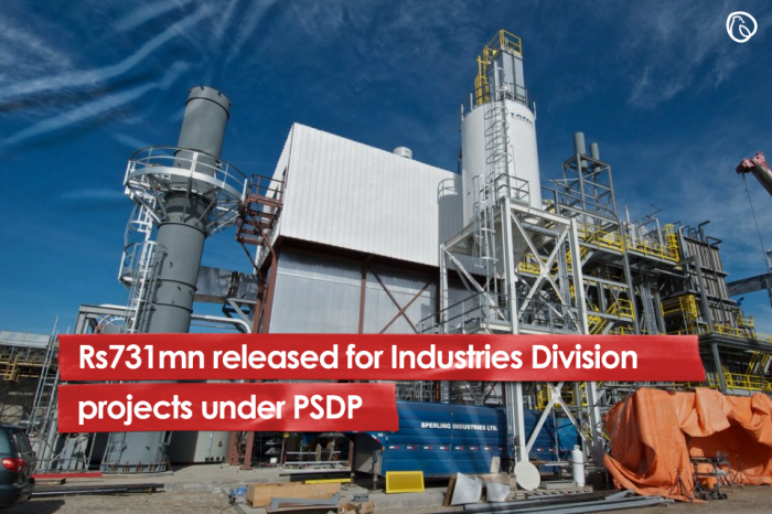 Rs731mn released for Industries Division projects under PSDP