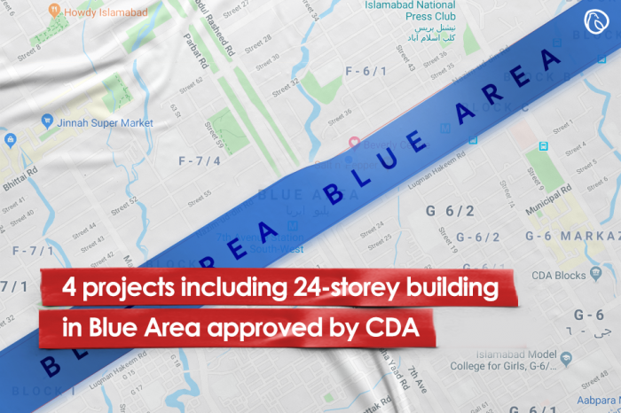 4 projects including 24-storey building in Blue Area approved by CDA