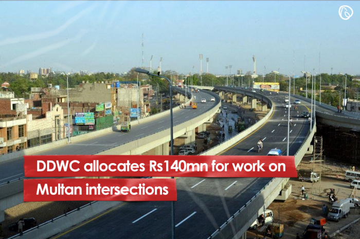 DDWC allocates Rs140m for work on Multan's intersections