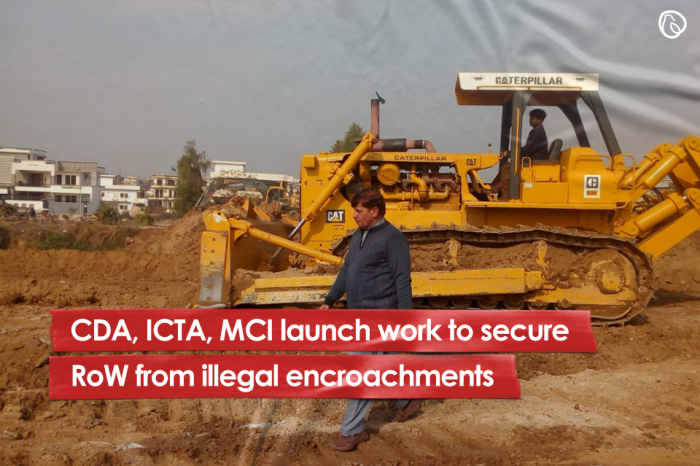 CDA, ICTA, MCI launch work to secure the RoW from illegal encroachments