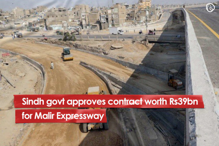 Sindh govt approves contract worth Rs39bn for Malir Expressway