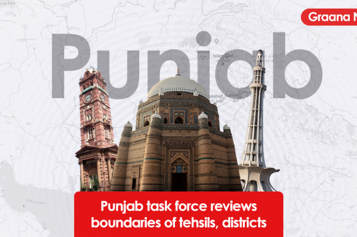 Lahore task force reviews boundaries of tehsils, districts