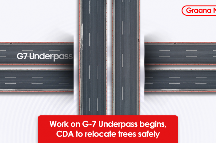 Work on G-7 Underpass begins, CDA to relocate trees safely