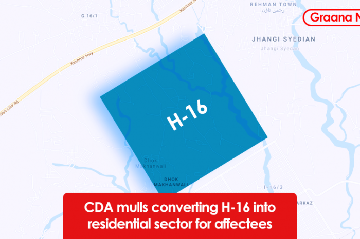 CDA mulls converting H-16 into residential sector for affectees