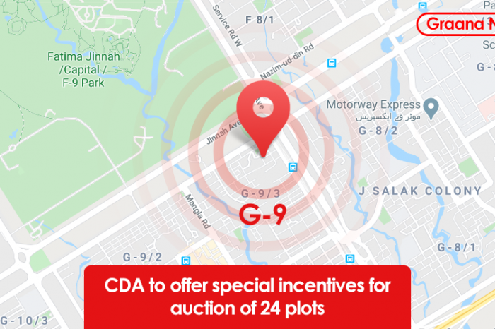CDA to offer special incentives for auction of 24 plots
