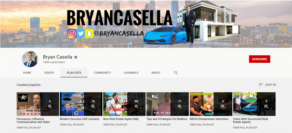 bryan casella real estate youtube channel