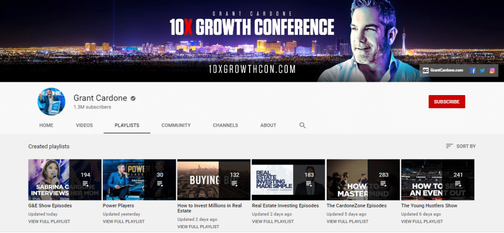grant cardone real estate youtube channel