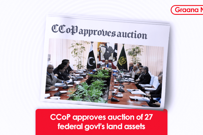 CCoP approves auction of 27 federal govt's land assets