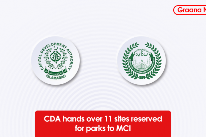 CDA hands over 11 sites reserved for parks to MCI
