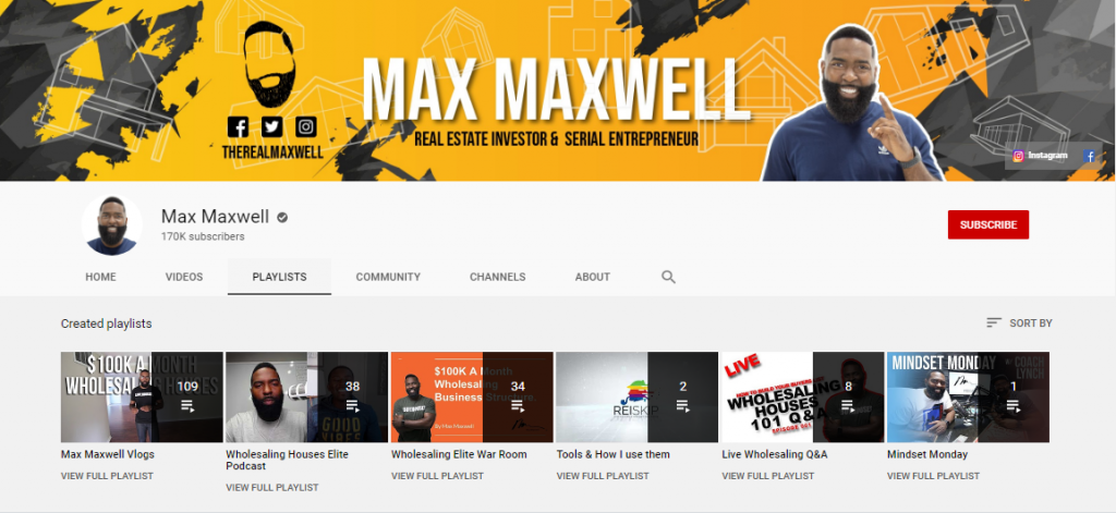 max maxwell real estate investing youtube channel