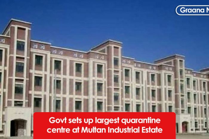 Govt sets up largest quarantine centre at Multan Industrial Estate