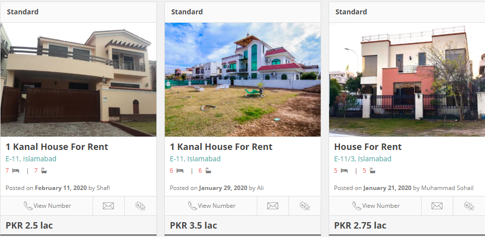 houses for rent in e-11 islamabad