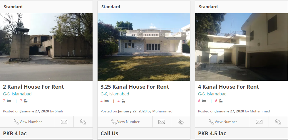 houses for rent in g-6 islamabad