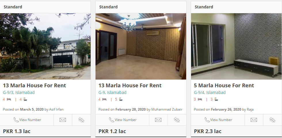 houses for rent in g-9 islamabad