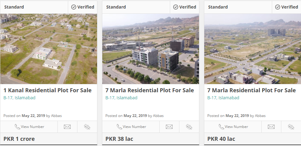 plots for sale in b 17 islamabad