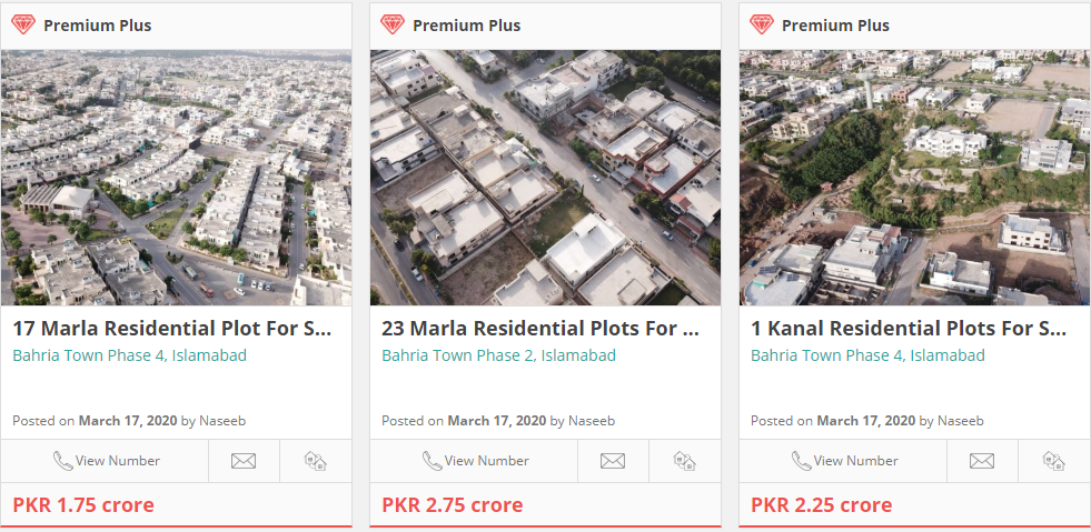 plots for sale in bahria town islamabad