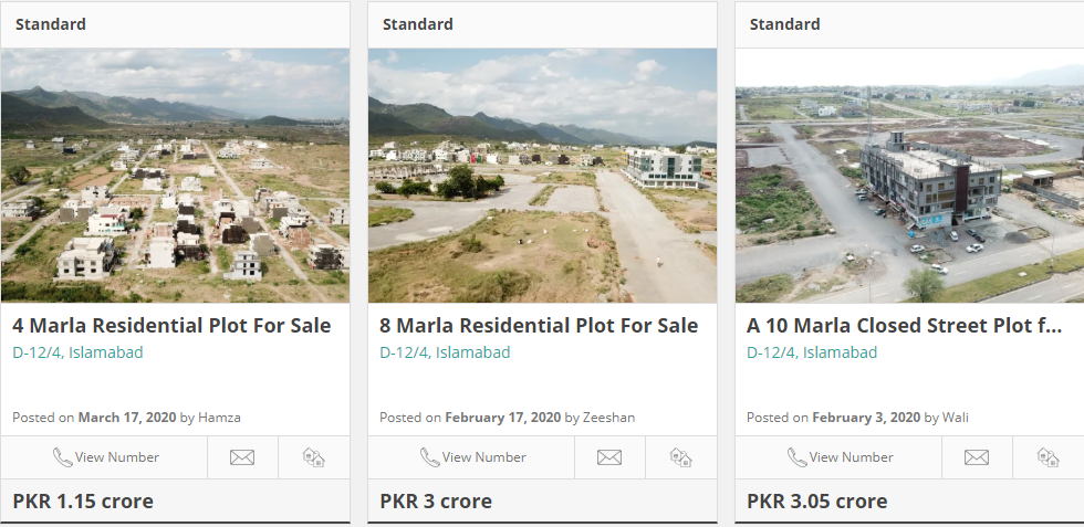 plots for sale in d 12 islamabad