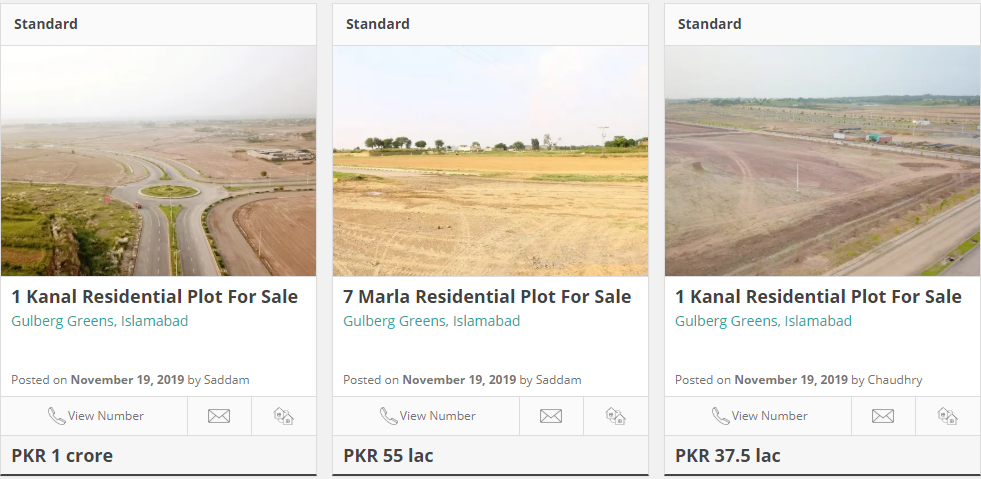 plots for sale in gulberg green islamabad