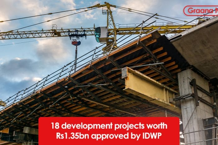 18 development projects worth Rs1.35bn approved by IDWP