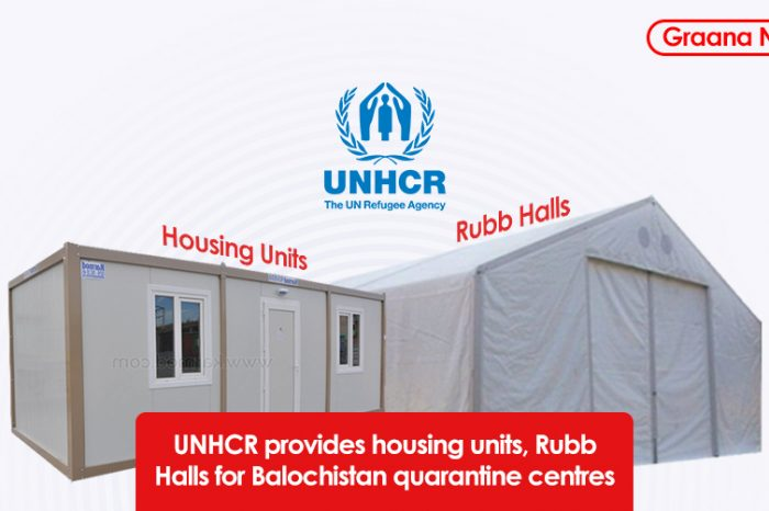UNHCR provides housing units, Rubb Halls for Balochistan quarantine centres