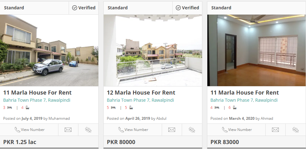houses for rent in bahria town rawalpindi