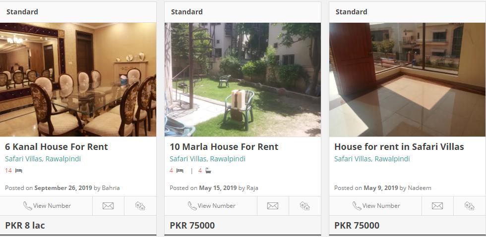 houses for rent in safari villas