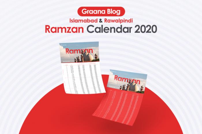 Islamabad & Rawalpindi Ramzan Calendar - Sehri/Iftar Time 2020