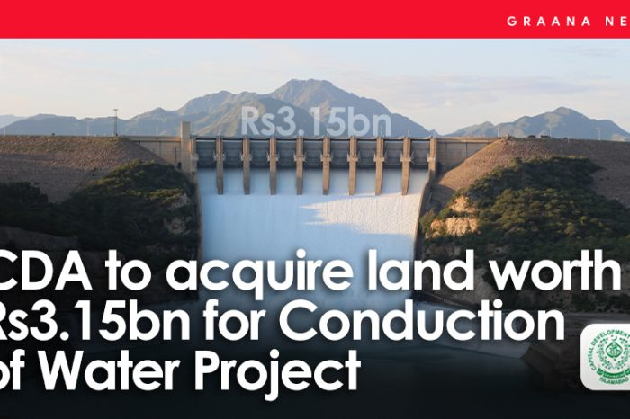 CDA to acquire land worth Rs3.15bn for Conduction of Water Project