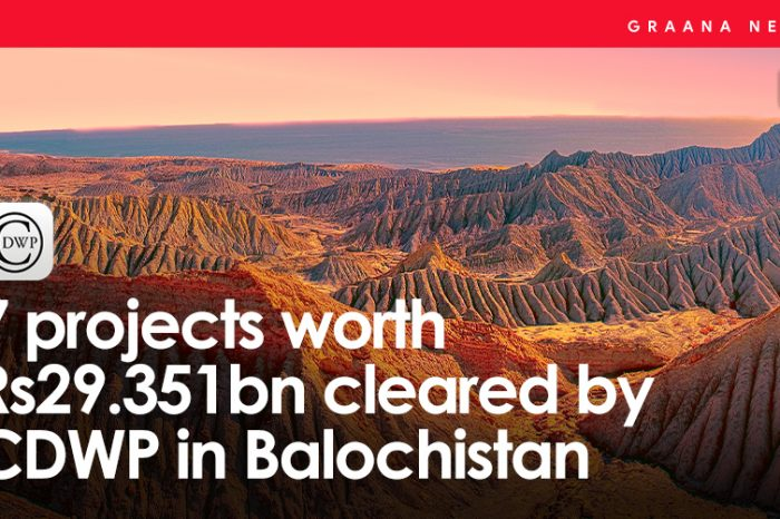 7 projects worth Rs29.351bn cleared by CDWP in Balochistan