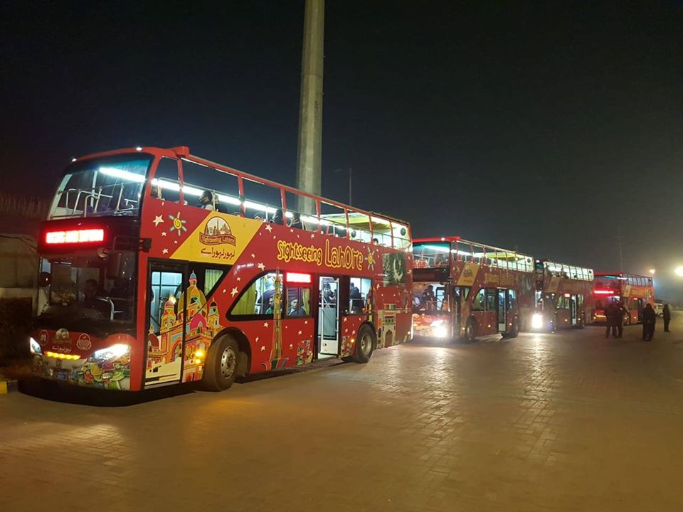 tour bus in lahore