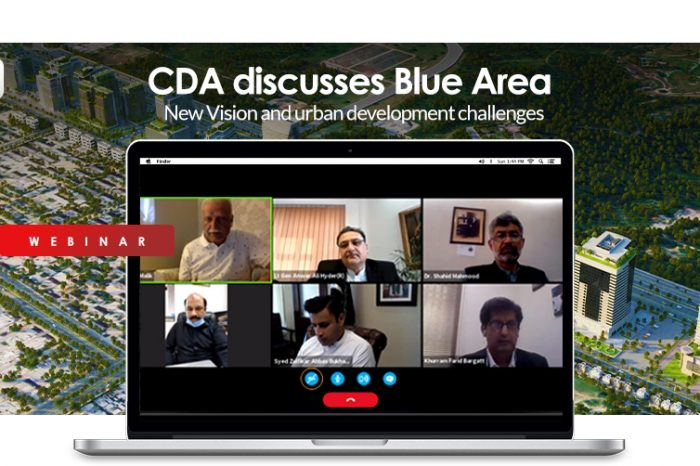 CDA discusses Blue Area- New Vision and urban development challenges (Webinar)