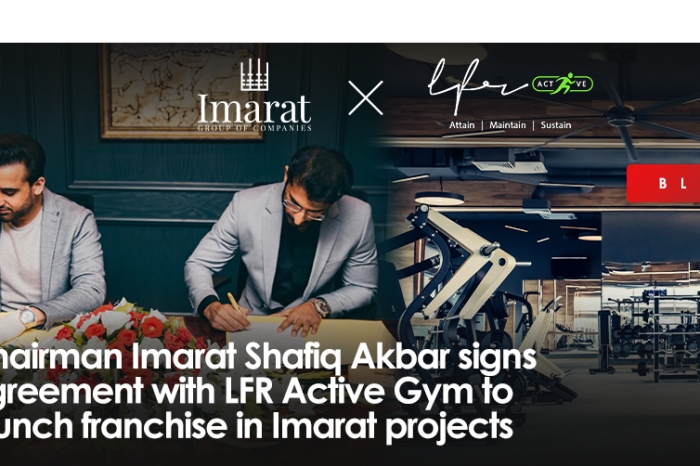 Chairman Imarat Shafiq Akbar signs agreement with LFR Active Gym to launch franchise in Imarat projects