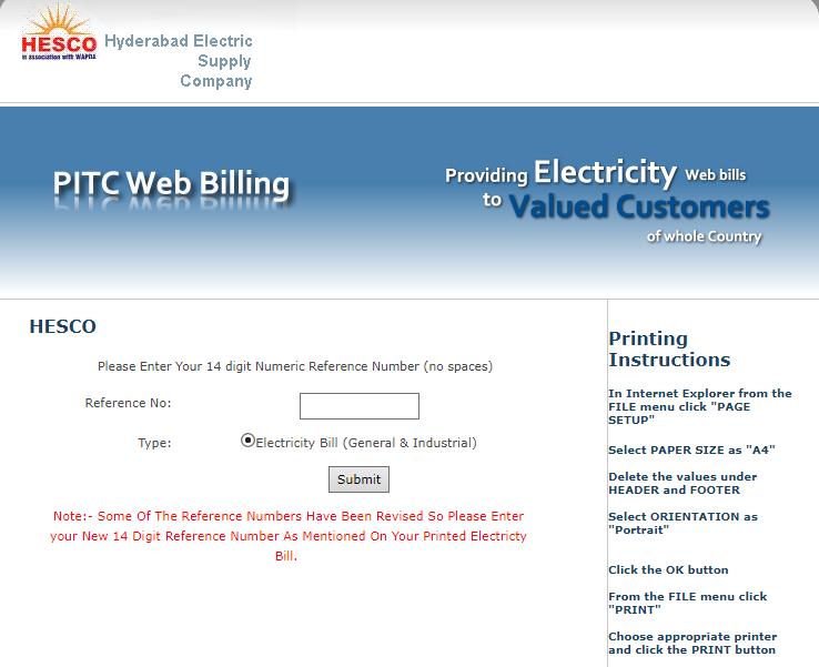 hesco bill online check