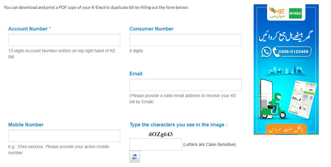electricity bill online karachi