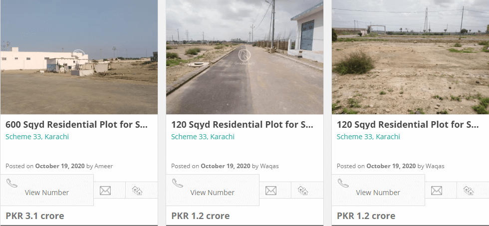 scheme 33 investment option in karachi
