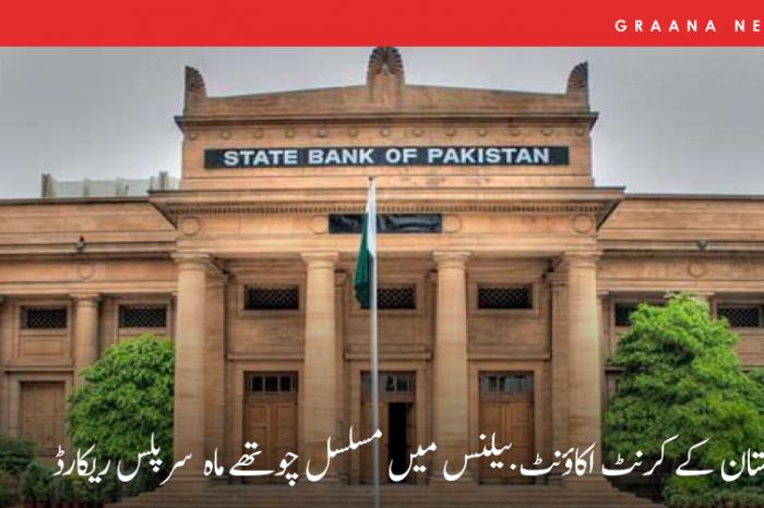 پاکستان کے کرنٹ اکاؤنٹ بیلنس میں مسلسل چوتھے ماہ سرپلس ریکارڈ