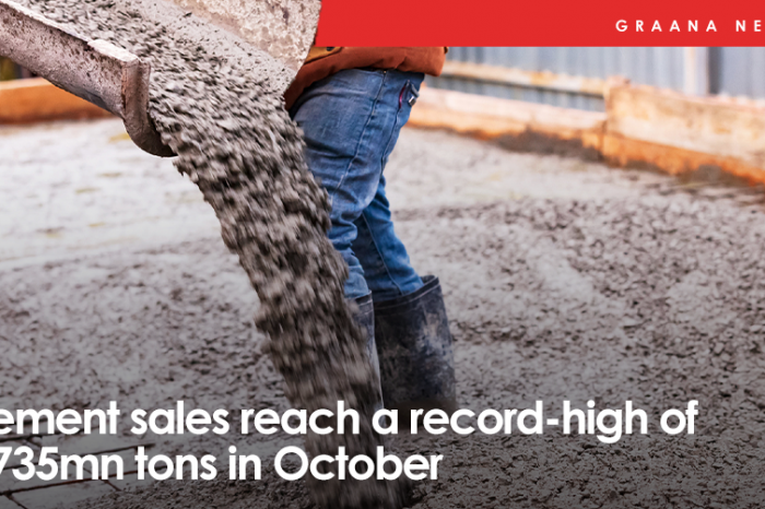 Cement sales reach a record-high of 5.735mn tons in October