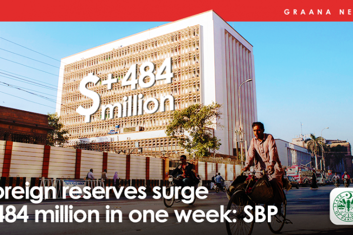 Foreign reserves surge $484 million in one week: SBP