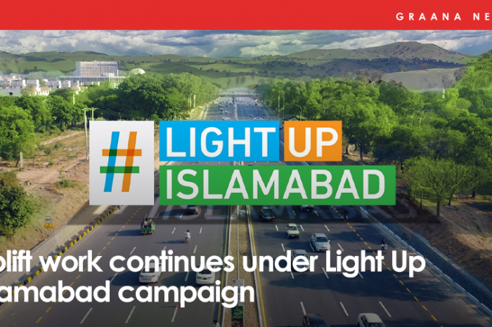 Uplift work continues under Light Up Islamabad campaign