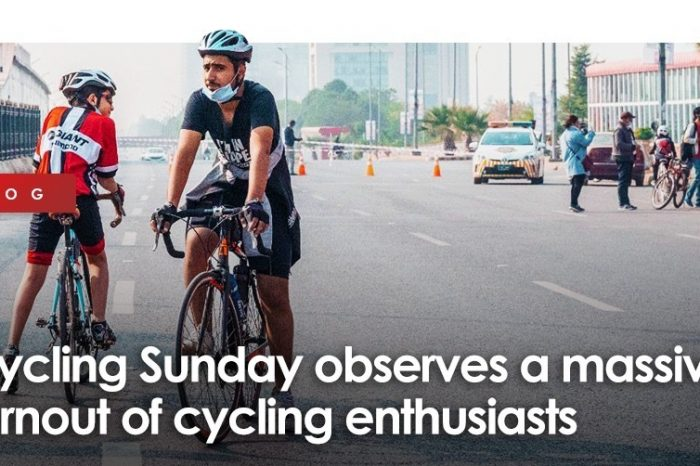 Cycling Sunday observes a massive turnout of cycling enthusiasts