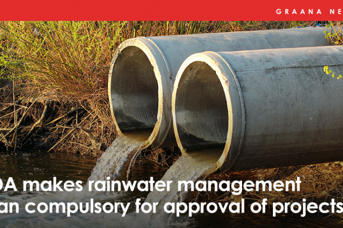 RDA makes rainwater management plan compulsory for approval of projects